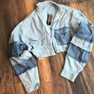 Fashion Nova Cropped Denim Jacket